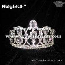 3inch Height Princess Pageant Crowns With Big Diamonds